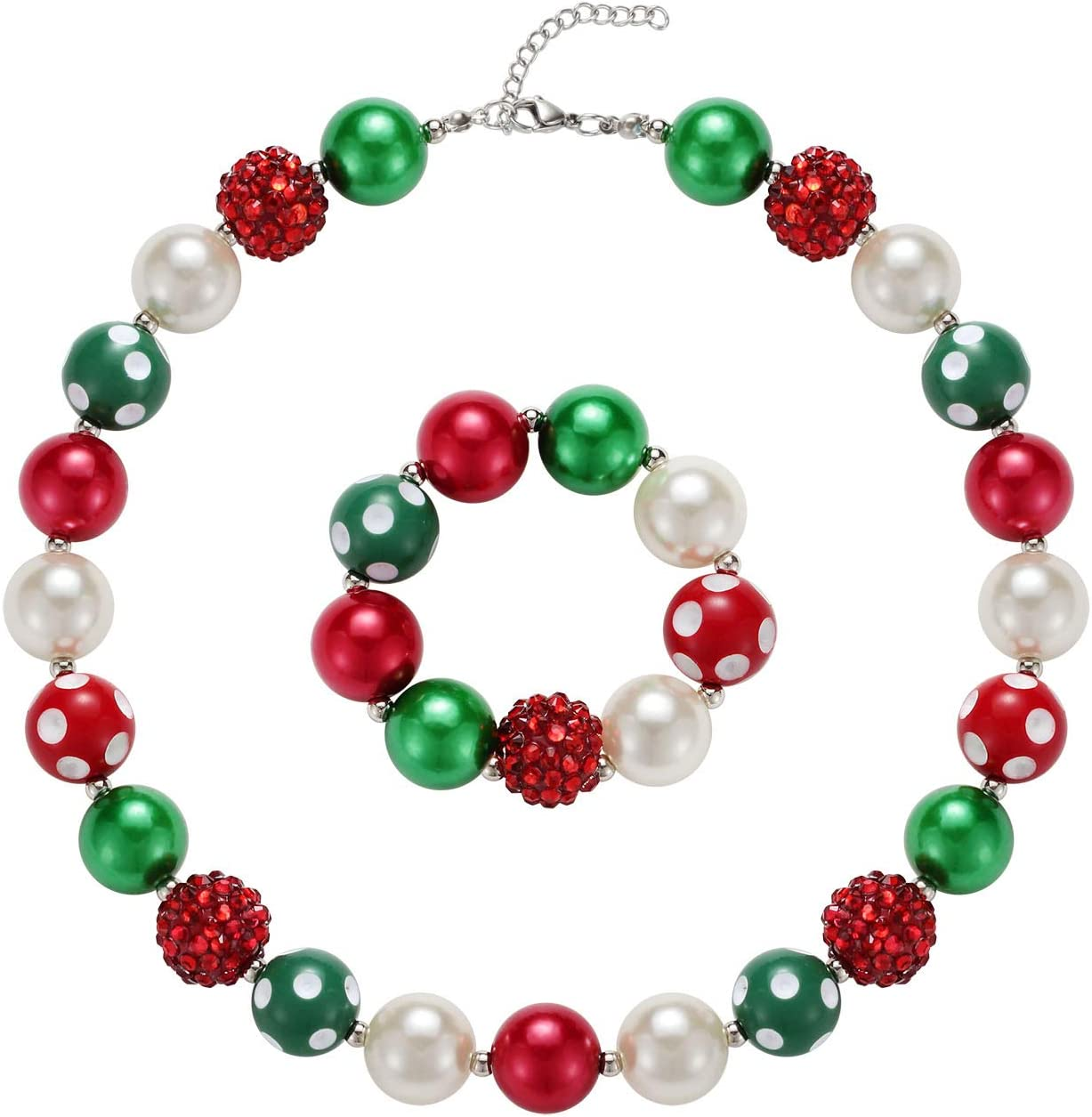 Girls Adjustable Chunky Bubblegum Necklace Best Gifts for her