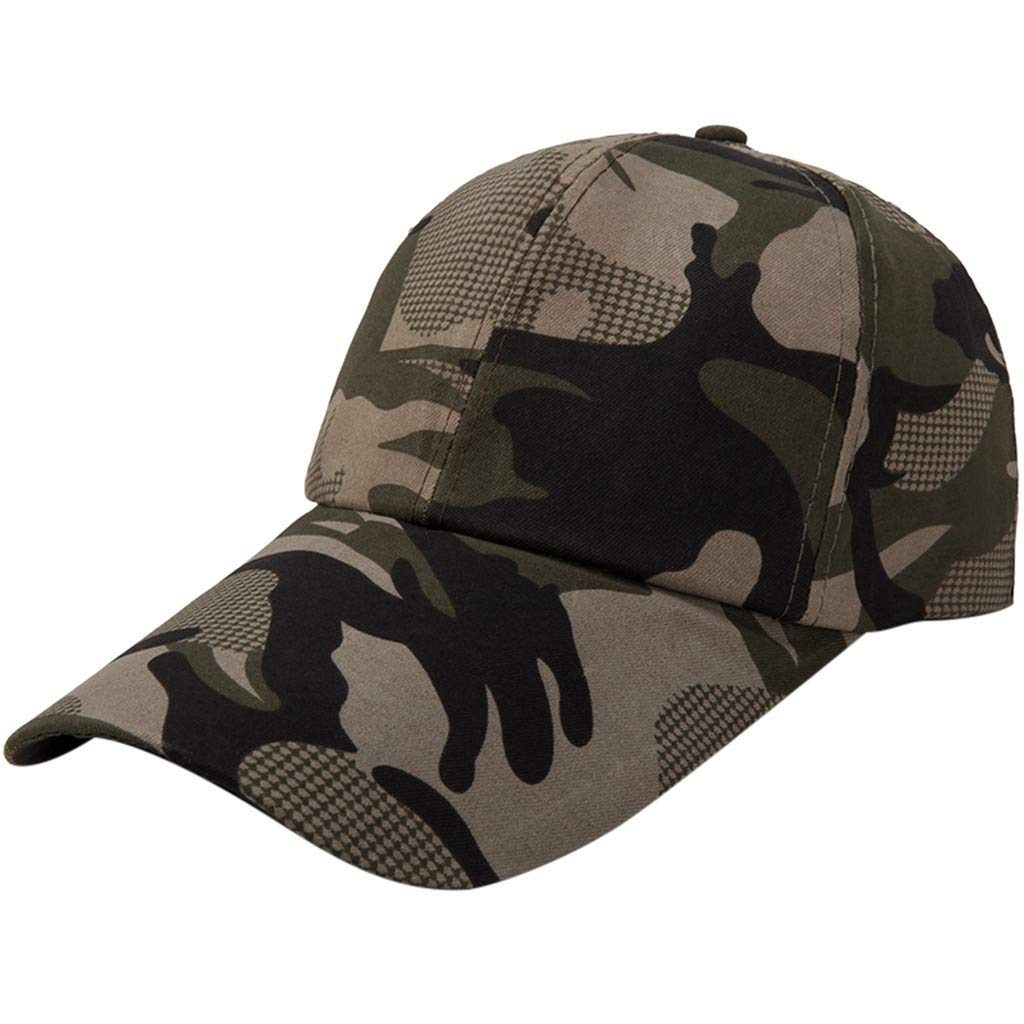 Quaanti Camouflage Baseball Cap Men Special Tactical Baseball Hat Boys Snapback Trucker Cap Classic Plain Work Sports Caps (B)