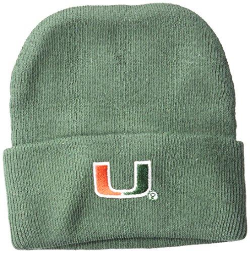 Two Feet Ahead NCAA Miami Hurricanes Infant Knit Cap, New Born, Green