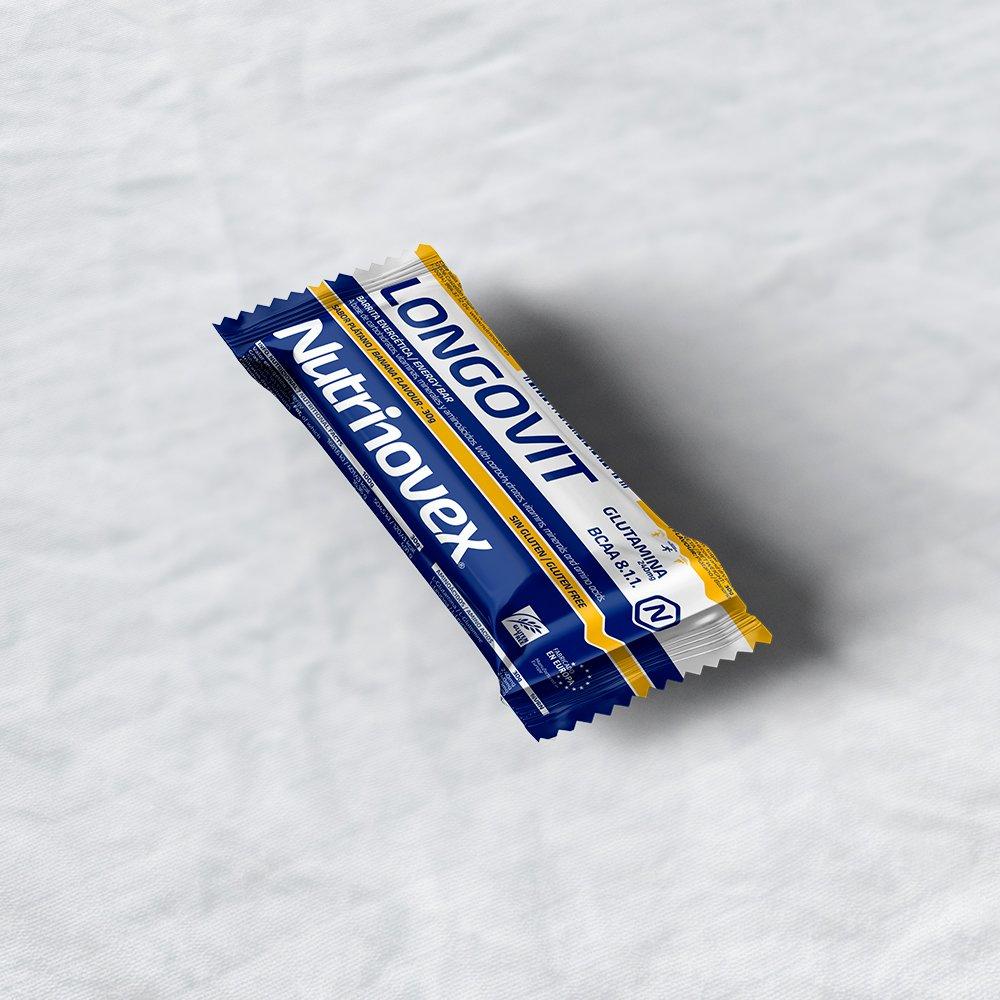 Nutrinovex Longovit - Barrita energetica Sabor Plátano - 1 Paquete de 28 x 30 gr: Amazon.es: Salud y cuidado personal