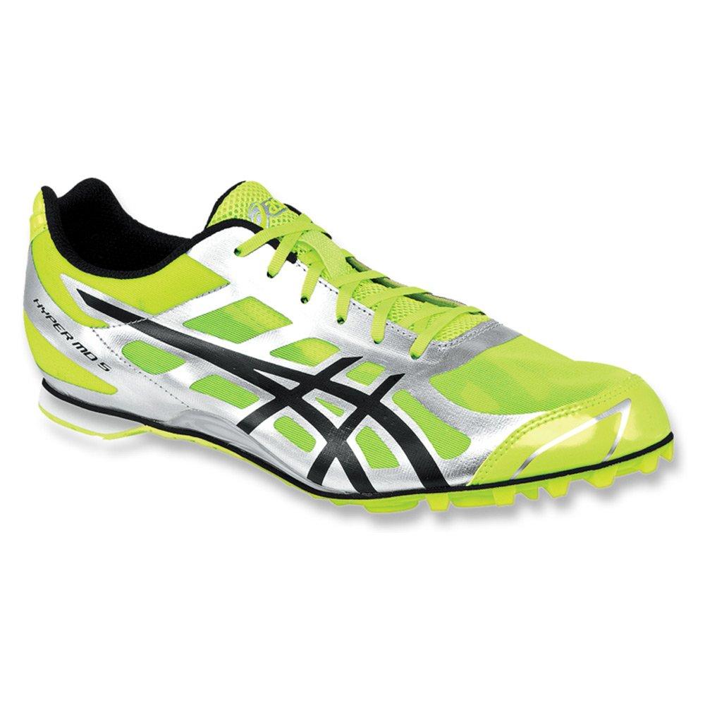 ASICS - Männer Hyper Md 5 Leichtathletik-Schuhe, EUR  45  Width  D(M), Neon Gelb schwarz Silber