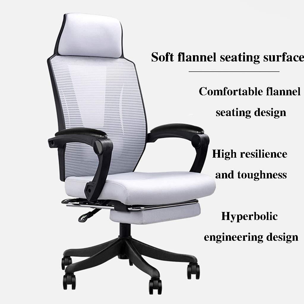 ZZHZY BBGS kontor svängbar stol, stol med hög rygg, datorstol med armstöd, spelstol (färg: A-2) B-2