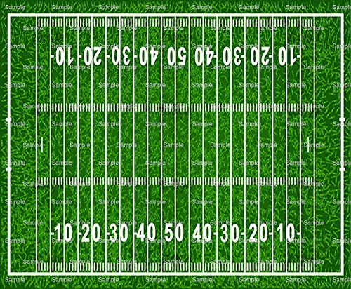 1/4 Sheet - Football Field Birthday - Edible Cake/Cupcake Party Topper!!!