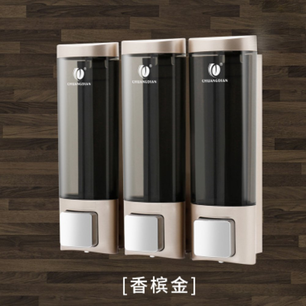 Shower dispensers,Wall Mount,Manual soap Dispenser,Three Heads Home Hotel Bathroom Gel Shower Box Shampoo Box-I by franchisehouse