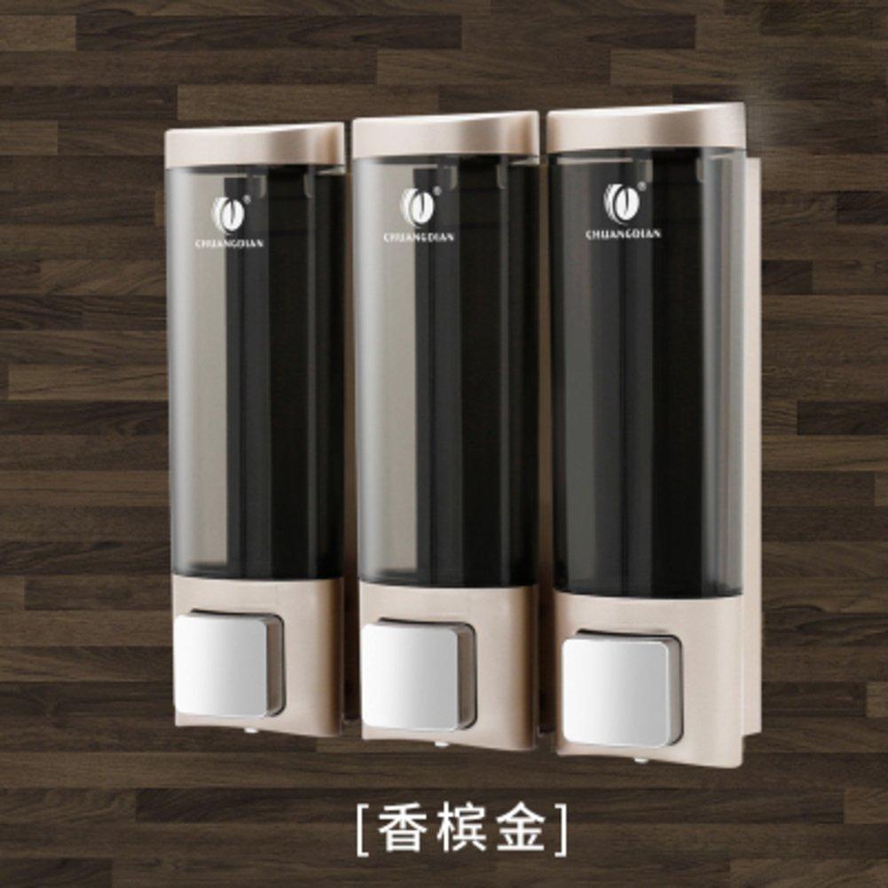 Shower dispensers,Wall mount,Manual soap dispenser,Three heads Home Hotel Bathroom Gel shower box Shampoo box-I