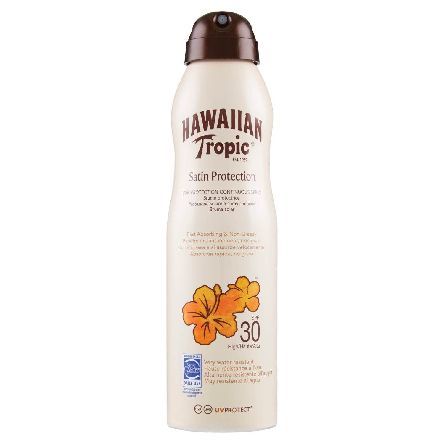 Hawaiian Tropic Brume Lotion Protectrice Satin SPF 30 - 220mL Y300636200