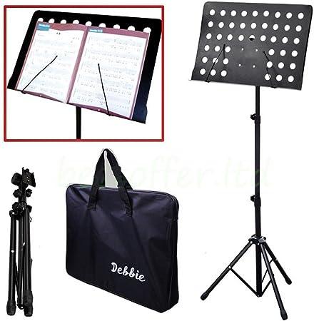 Notenständer Notenpult Orchesterpult Ablage klappbar mit Tasche in Schwarz