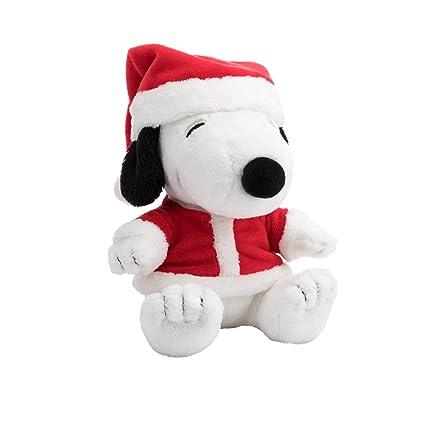 Amazon Com Hallmark Santa Snoopy Plush Stuffed Animal Christmas