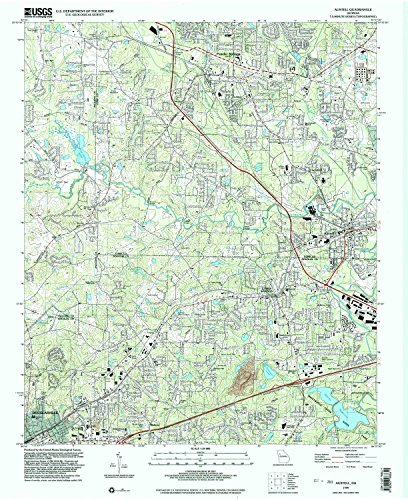 (Austell GA topo map, 1:24000 scale, 7.5 X 7.5 Minute, Historical, 1999, updated 2003, 26.9 x 22 IN - Paper)