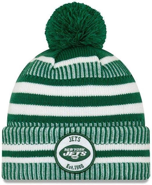 A NEW ERA Era On Field Sport Knit Hm Beanie York Jets: Amazon.es ...
