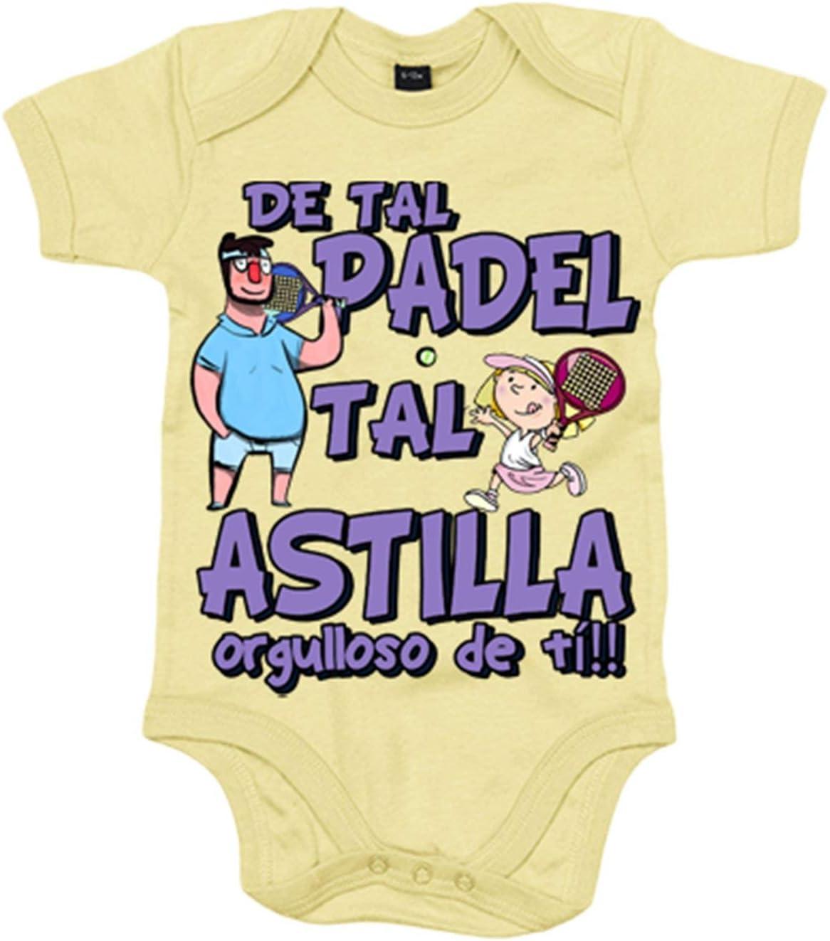 Body bebé padre y niña de tal padel tal astilla orgulloso de ti - Amarillo, 6-12 meses