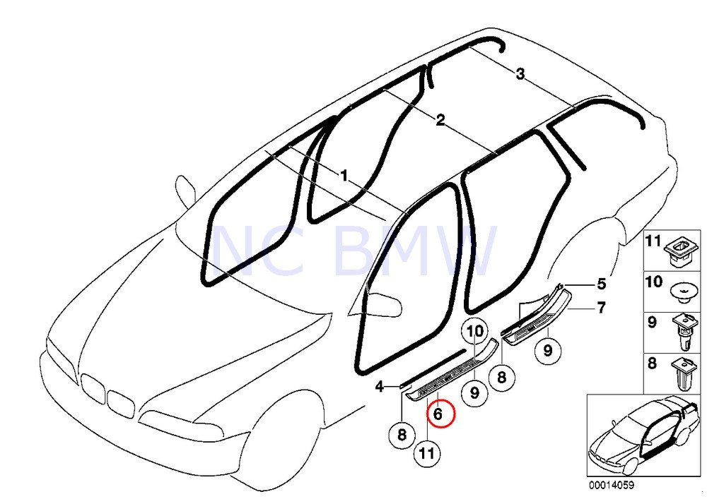 Bmw Genuine Front Right Entrance Cover Amazon Co Uk Car Motorbike