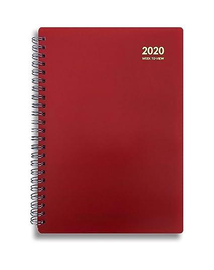 Agenda de año 2020 A5, vista semanal, con espiral y cubierta ...