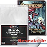 (25) BCW Book Sleeves - Polypropylene - with Resealable Flap -10'' x 13'' with a 2-1/2'' Flap - BCW-RBB
