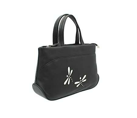 0f3fe44e59 Mala Leather AZURE Collection Soft Leather Grab Bag With Shoulder Strap  783 81 Black  Amazon.co.uk  Luggage
