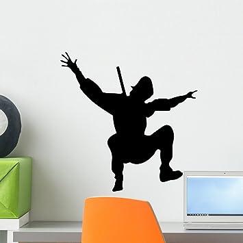 Amazon.com: wallmonkeys wm237810 Action Ninja Silueta – 7 ...