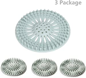 3 Pacakge (5.12in X 5.12in) Bathroom Drain Hair Catcher Bathtub Drain Hair Catcher Trap Hair Catcher Bathtub Drain Strainers Protectors Cover Filter for Floor,Laundry,Kitchen Bathroom
