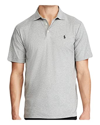 388d4c64 RALPH LAUREN Polo Men's Classic Fit Soft Touch Pima Cotton Polo Shirt  (Andover Heather,