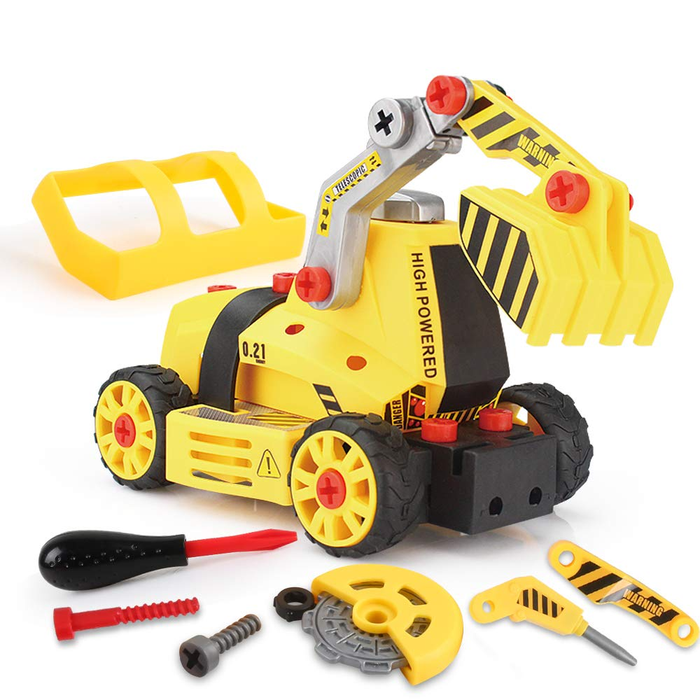 7-in-1 DIY Take Apart Truck Car Toys for 3 4 5 6 7 Year Old Boys Girls, Construction Engineering STEM Learning Toys Building Play Set for Kids Children by Beebeerun