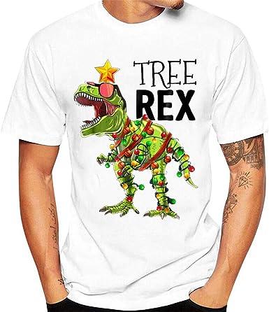Camiseta Original de Navidad Personalidad de los Hombres Camisetas Estampado Divertidos Ropa Simple y Cómodo Tops Fiesta Cartoon Blusas Yvelands: Amazon.es: Ropa y accesorios