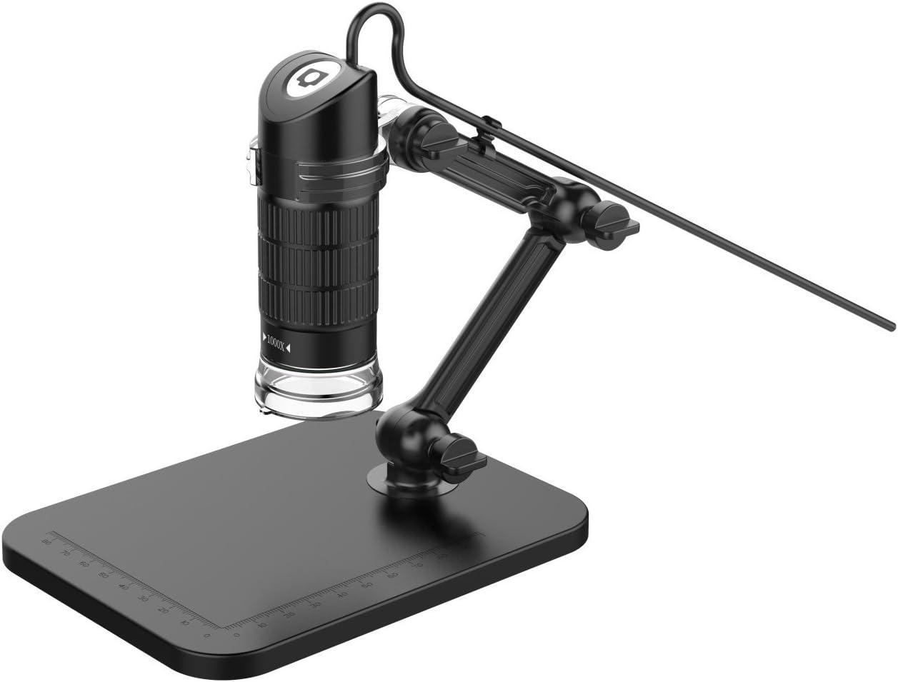 500X Kanavano USB Digital Microscope 20X-1000X 8 LED Handheld Microscope Endoscope Magnifier PC Camera Teaching Repair Textile Cosmetology Skin Magnifier Send Elevator