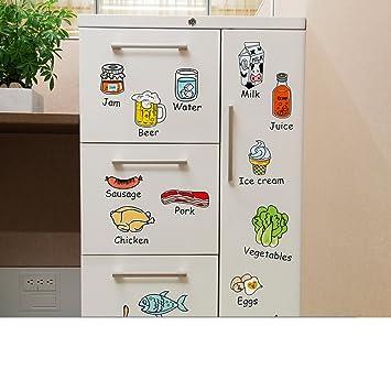 Karikatur-essen-wandtattoo,Küche fliesen kühlschrank magnet ...