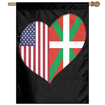 amazon com fq 8flag heart basque country american flag welcome