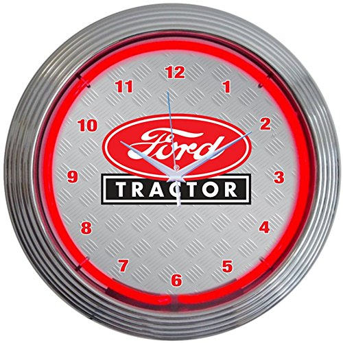 Neonetics Ford Tractor Neon Wall Clock, 15-Inch