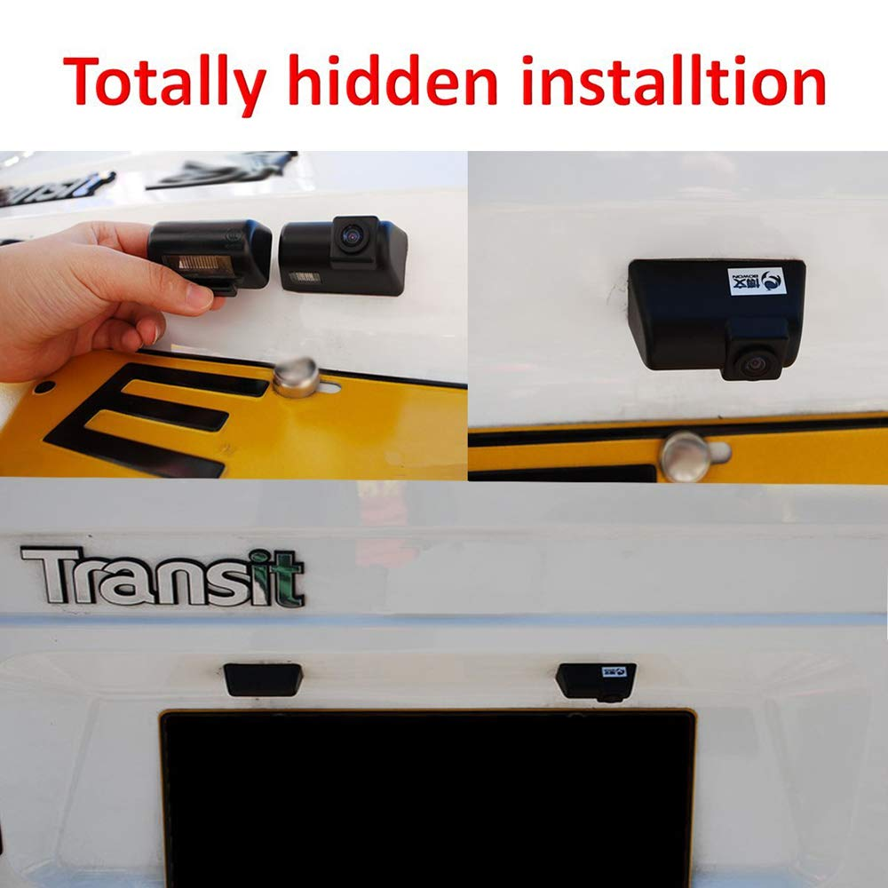 Waterproof Rear-View License Plate Rear Reverse Parking Camera for Ford Transit Ford Transit Connect Van Ford Transit Mk7 Connect TUXIN-DIRECT Backup Camera for Car