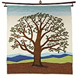 Wool Blend Wall Hanging 36''x33'' 'Branching Life Wall Hanging'