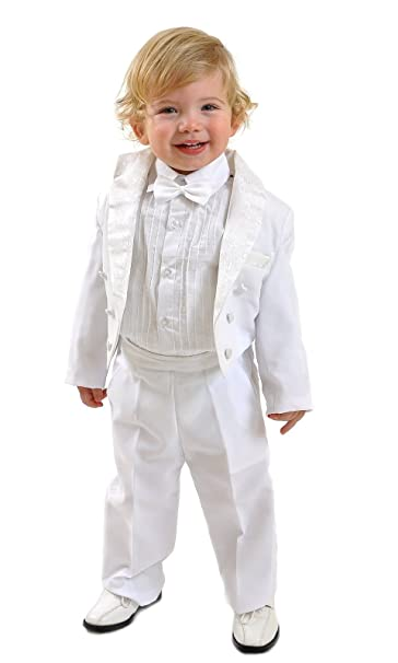 5 piezas niños Traje Smoking Traje de frac Baby taufanzug ...