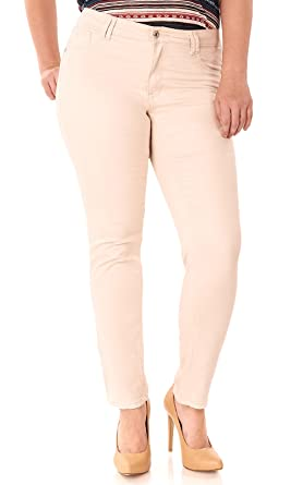 Angels Jeans Plus Size Super Stretch Jegging in Khaki Size:14 Plus ...