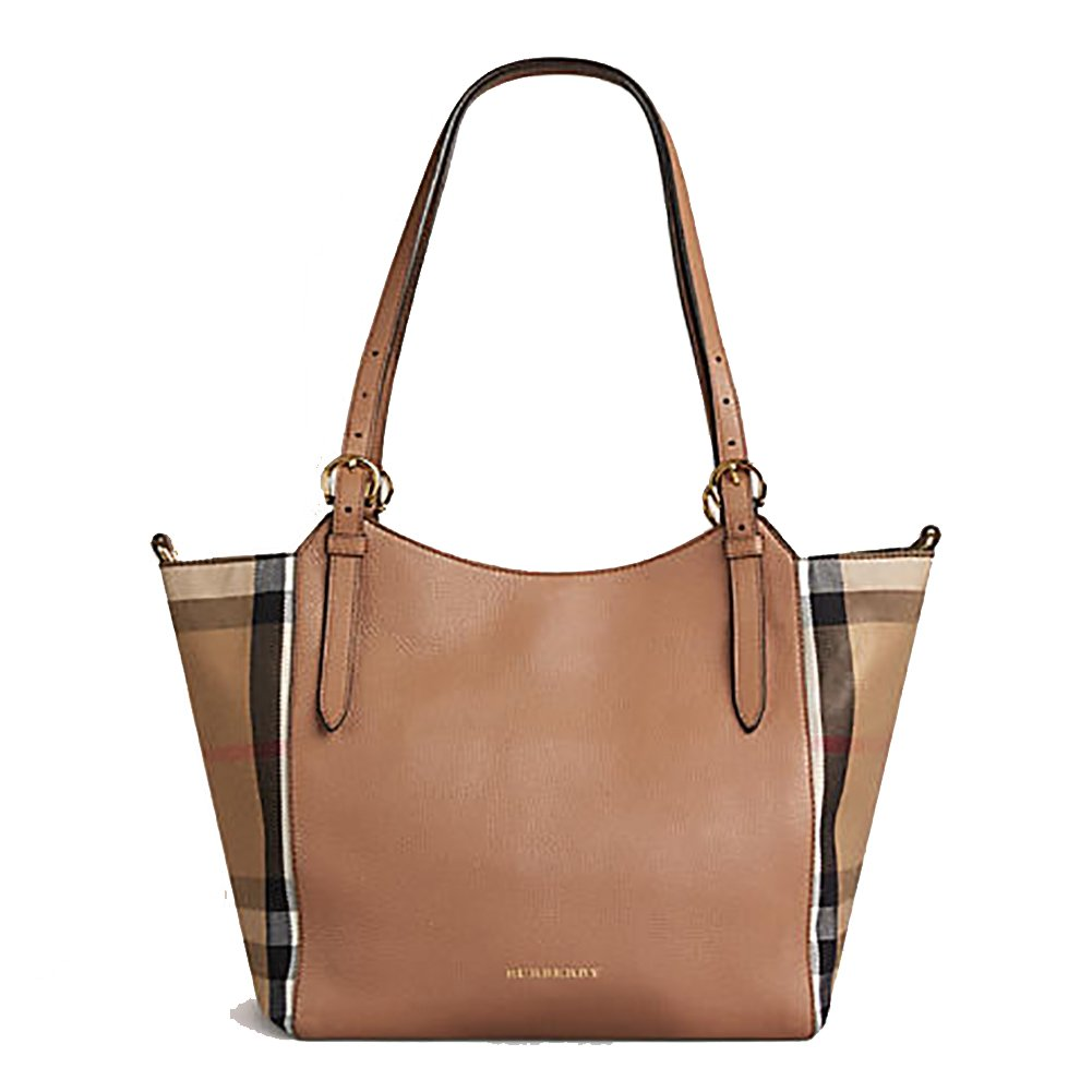 aae26cfb2bc6 Tote Bag Handbag Authentic Burberry Small Canter in Leather and House  Darksand Made in Italy  Handbags  Amazon.com