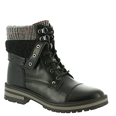 tommy hilfiger leather lace up boots