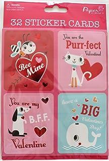 Amazon Com Valentine S Day School Kids Sticker Exchange Cards Boy