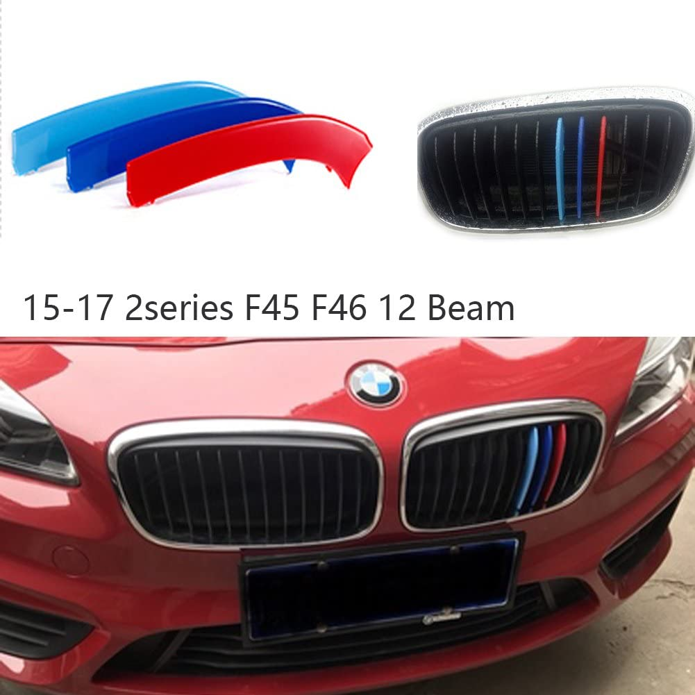 lanyun F39 Grill Stripes m Color Grille Insert Trims for 2017-up BMW F39 X2 Center Kidney Grille 8-Beam