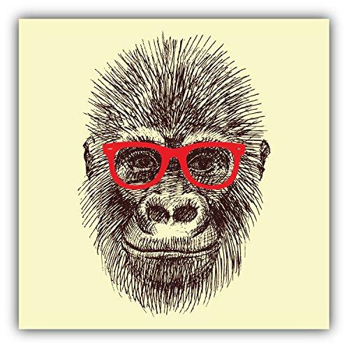 Orangutan Monkey Head Art Decor Bumper Sticker 5'' x 5''