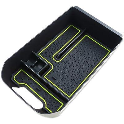 LFOTPP Armrest Center Console Organizer Tray Accessories Coin and Sunglasses Holder,Secondary Insert Storage Box for 2020 2020 RAV4 XA50 Green: Automotive