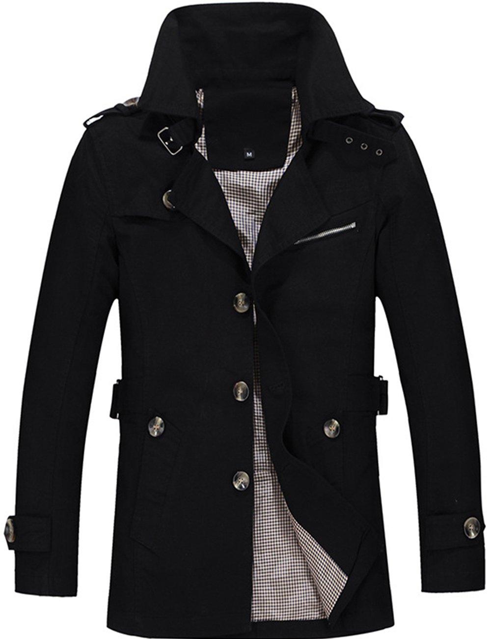Menschwear OUTERWEAR メンズ B075FBHDQM XL|ブラック ブラック XL
