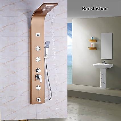 Perchero de pared Panel de ducha de baño único mango cuerpo ...