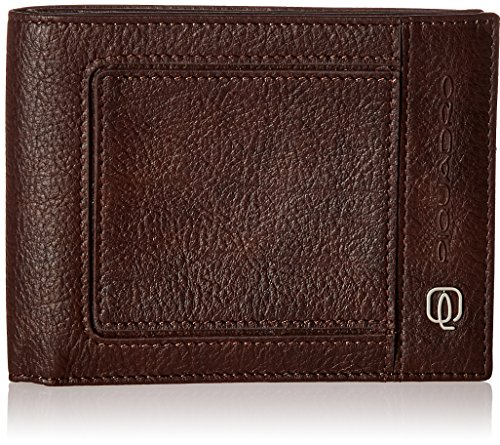 Piquadro Men's Leather Wallet with 12 Credit Card Slots, Dark Brown, One Size by Piquadro