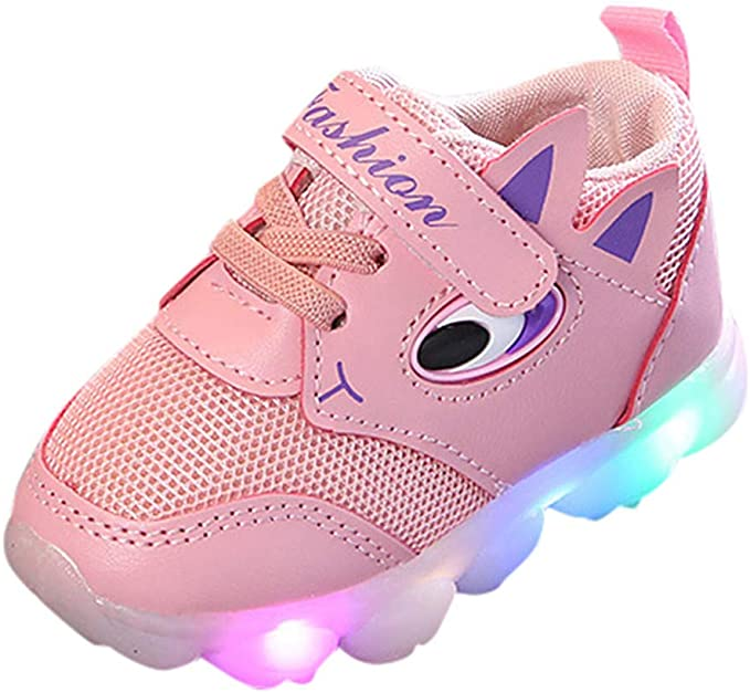 Toddler Kids Baby Girs Boys Led Light Shoes Soft Luminous Outdoor Sport Shoes