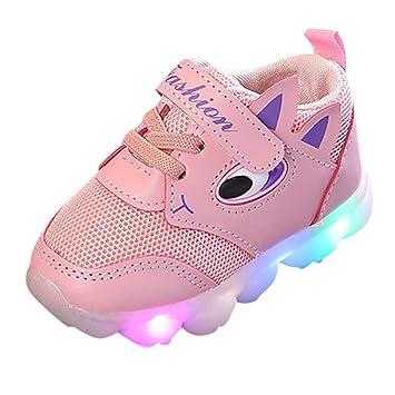 84fafcd89b949 Garçons Filles Basket Sneaker Basses LED Lumineuse Sport Doux Chaussures  Respirant Amortisseur