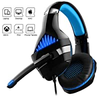 Dreamerd Gaming Headset for PS4, Nintendo Switch, PC, Xbox One Controller, Comfort Noise Reduction Professional Headphone with Mic