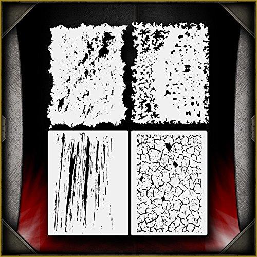 Mini Grunge Set AirSick Airbrush Stencil Art Template by AirSick Stencils