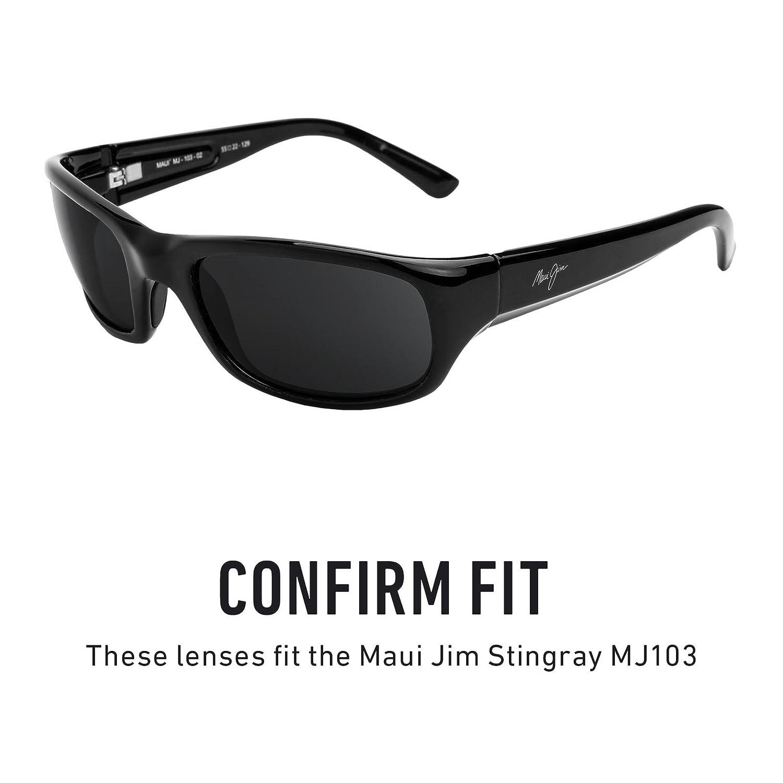 2373198398 Amazon.com  Revant Polarized Replacement Lenses for Maui Jim Stingray MJ103  Black Chrome MirrorShield  Sports   Outdoors