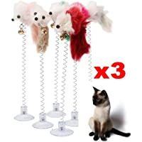 Cat Toys False Bottom Sucker Toys for Cat Kitten Playing Pet Seat Toy (Size: Random Color)