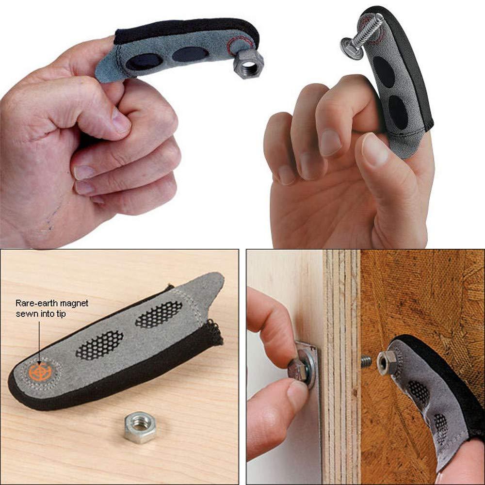 Gaddrt Magnetische Fingerspitze Die magnetische Fingerspitzenhü lse gewä hrleistet, dass Sie niemals eine weitere Schraube auf dem Boden fallen lassen