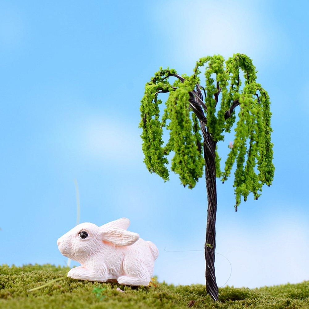 Techinal 1Pcs DIY Mini Willow Tree Plants Miniature Fairy House Garden Dollhouse Micro Decor