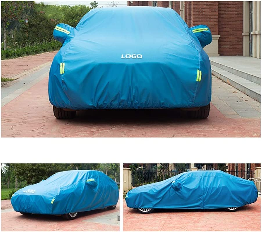 HEQCG Car Cover Compatible with car cover BMW 5 Series,4-layer thickened car cover,multifunction waterproof sunscreen dustproof car cover Color : D, Size : 2019 525i M